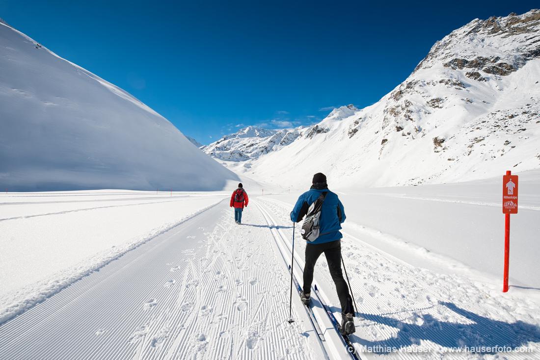 Skilanglauf und Wandern im Winter im Pitztal Österreich