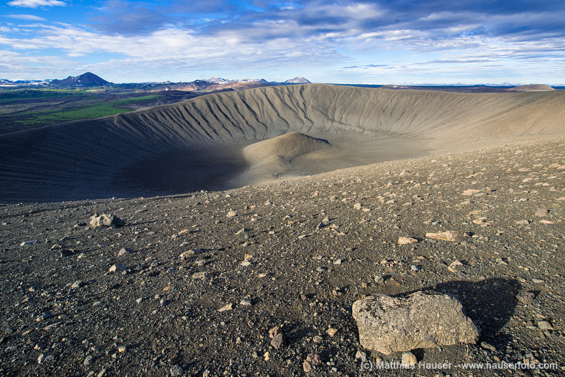 Hverfell Hverfjall Krater crater Island Iceland