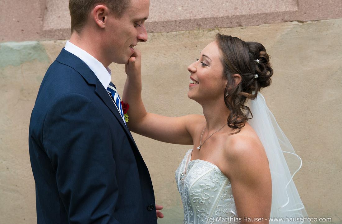 Hochzeit - Foto Braut und Bräutigam