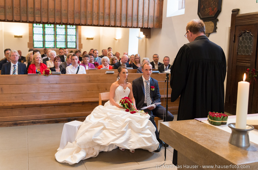 Kirchliche Trauung in der Michaelskirche Stuttgart Wangen