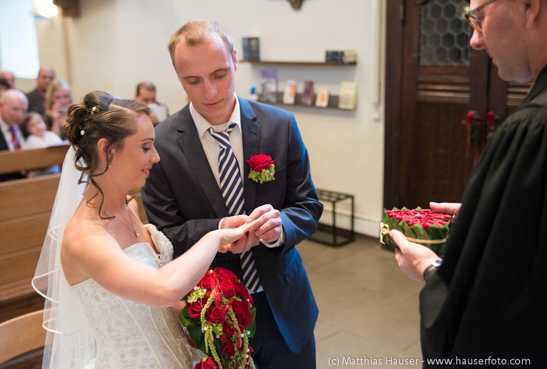 Hochzeit - Trauung in der Kirche, Ringtausch