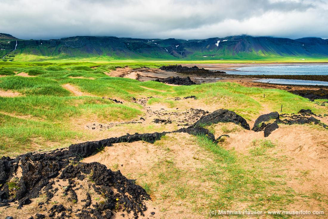 Iceland coast landscape