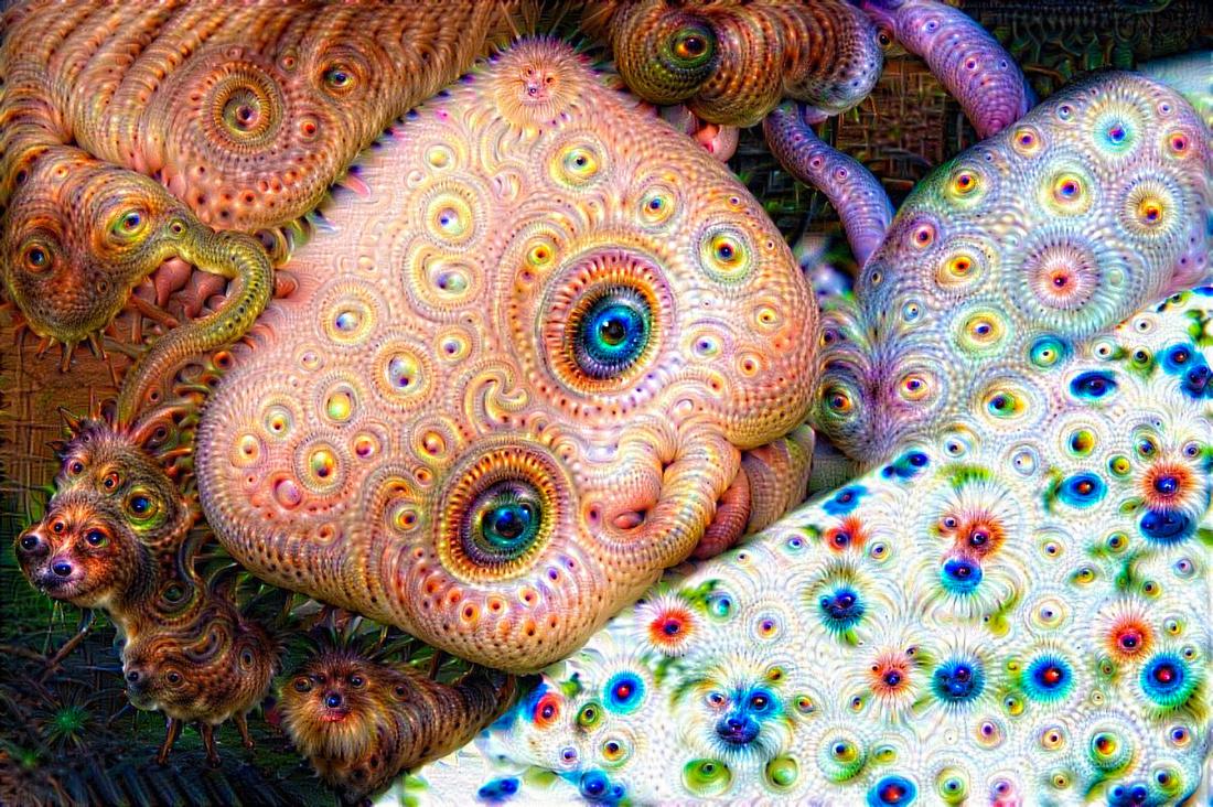 Surreal trippy doll Google Deep Dream image