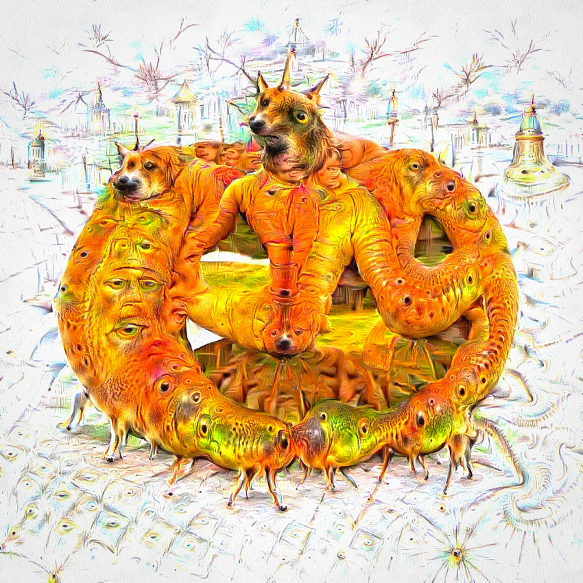 Surreal Halloween creature formerly known as pumpkin