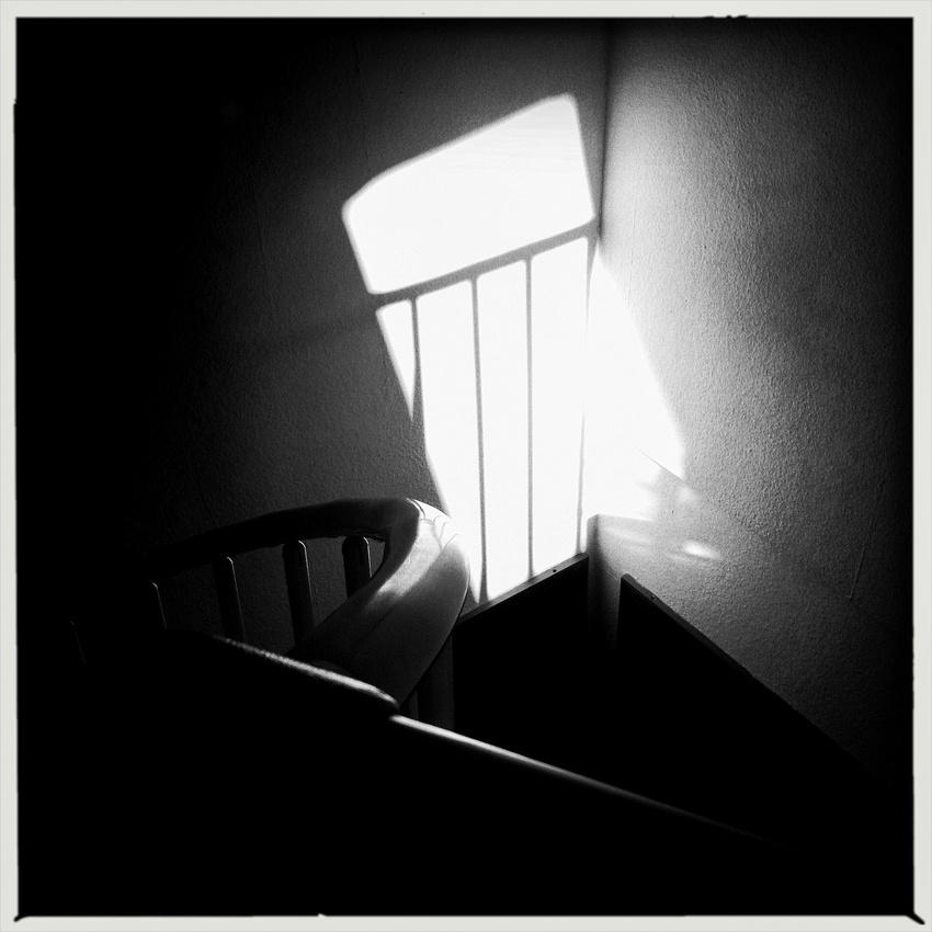 Licht und Schatten, Schwarz und Weiß - Aufnahme direkt vom iPhone (Hipstamatic)