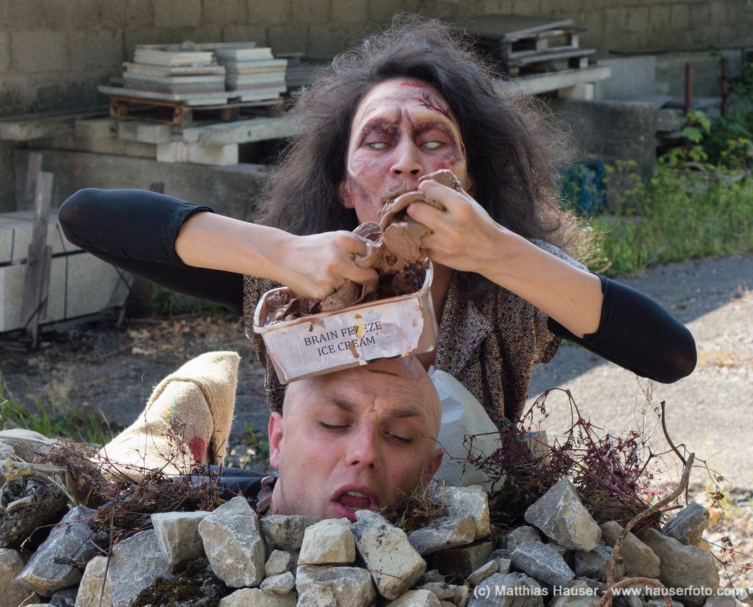 Zombie comedy Brain Freeze set photo by Matthias Hauser http://hauserfoto.com