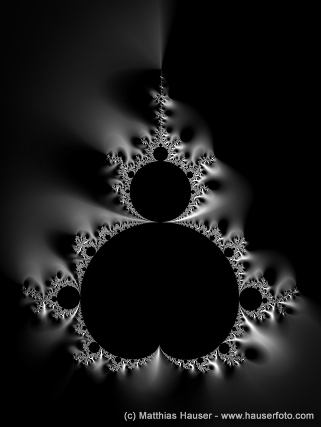 Fractal Art - black Mandelbrot Set