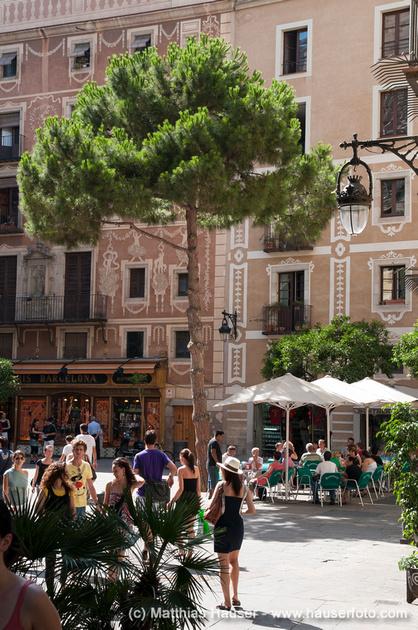 Placa del Pi, Barcelona, Spanien