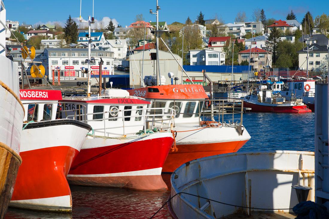 Hafnafjordur harbor Reykjanes Iceland