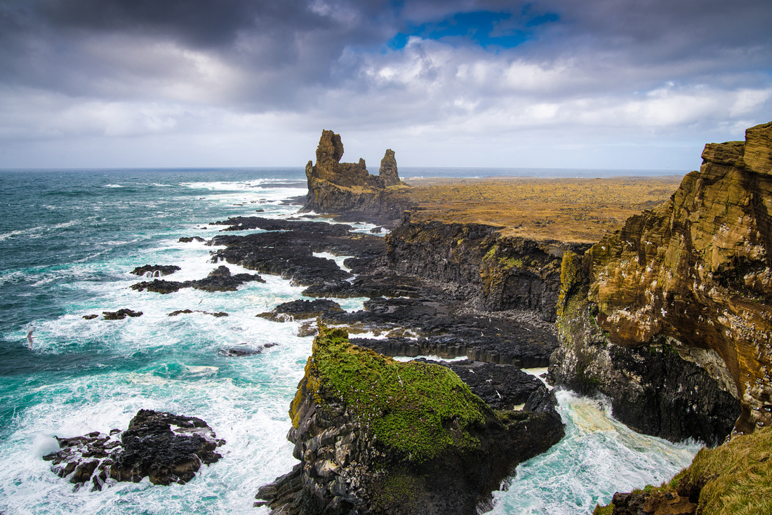 Snaefellsnes cliff coast and ocean Iceland Europe