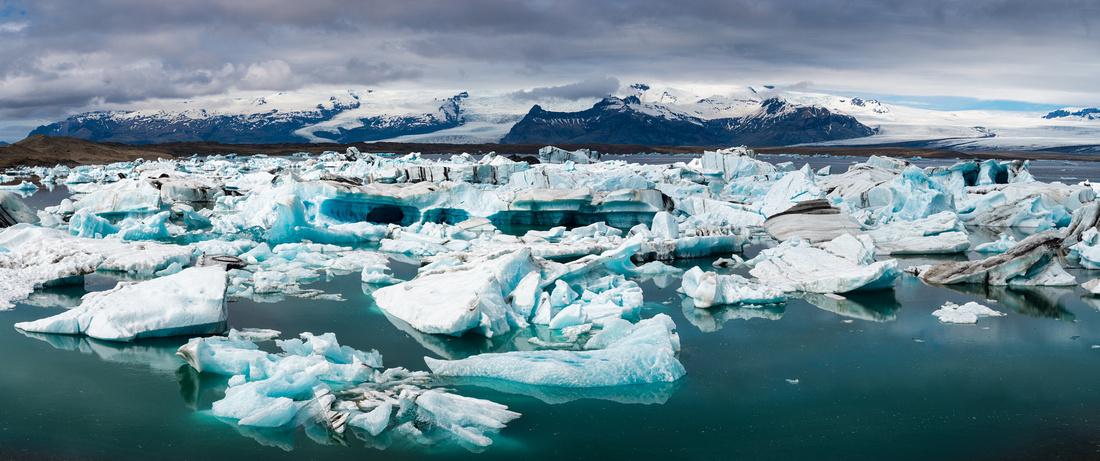 Jokulsarlon glacier lagoon Iceland Panorama Photo