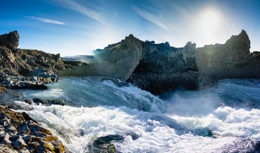Geitafoss waterfall Iceland