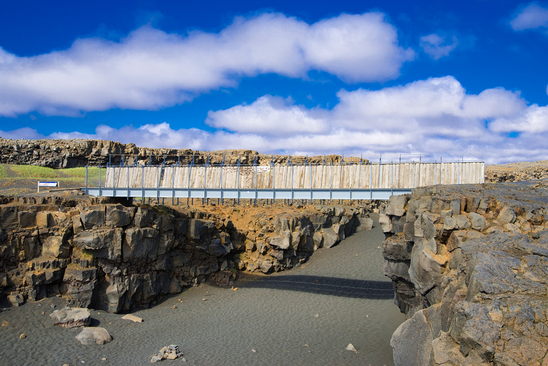 Bridge between two continents in Reykjanes Iceland