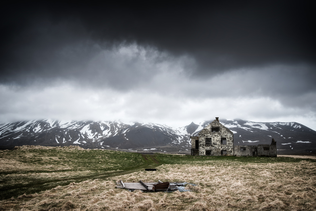 Abandoned building Snaefellsnes Iceland