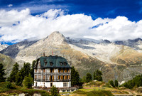 Beautiful Villa Cassel with the mountains of the Swiss Alps