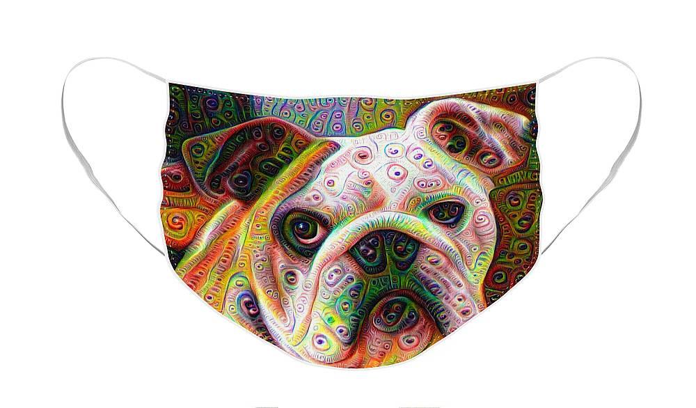 Trippy Dog Designer Face Mask