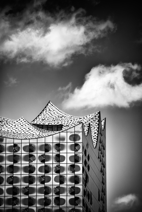 Elbphilharmonie Elphi Hamburg Germany Black and White