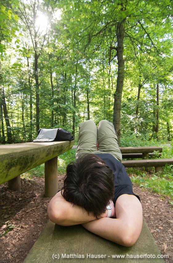 Rast im Naturpark Schönbuch