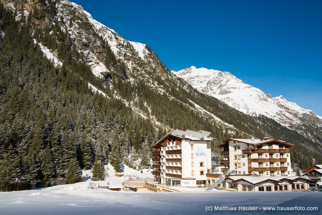 Hotel Seppl Pitztal Österreich im Winter