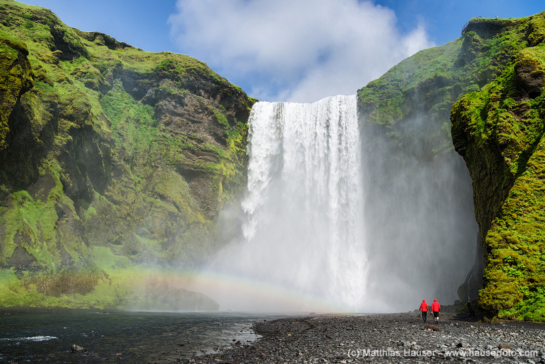 Skogafoss Wasserfall Island Europa - Waterfall Skogafoss Iceland Europe