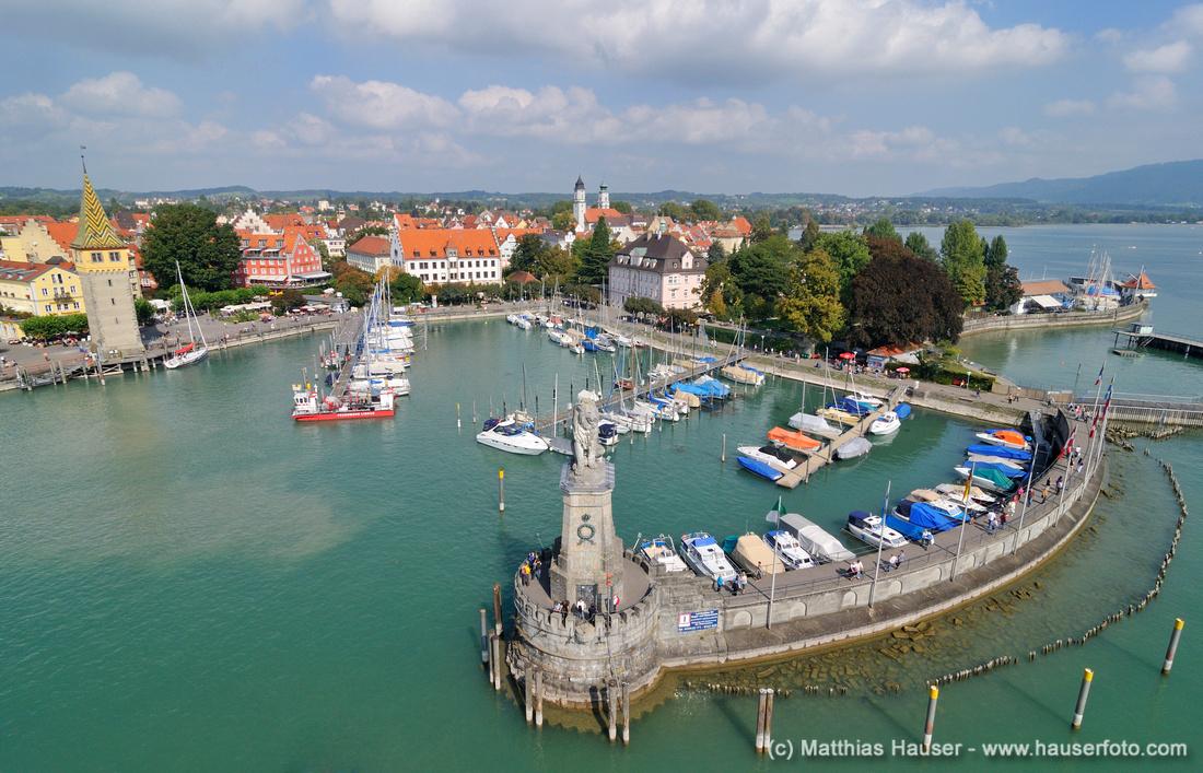 Hafen Lindau, Bodensee, Bayern, Deutschland, Europa - Port Lindau, Lake Constance, Bavaria, Germany, Europe