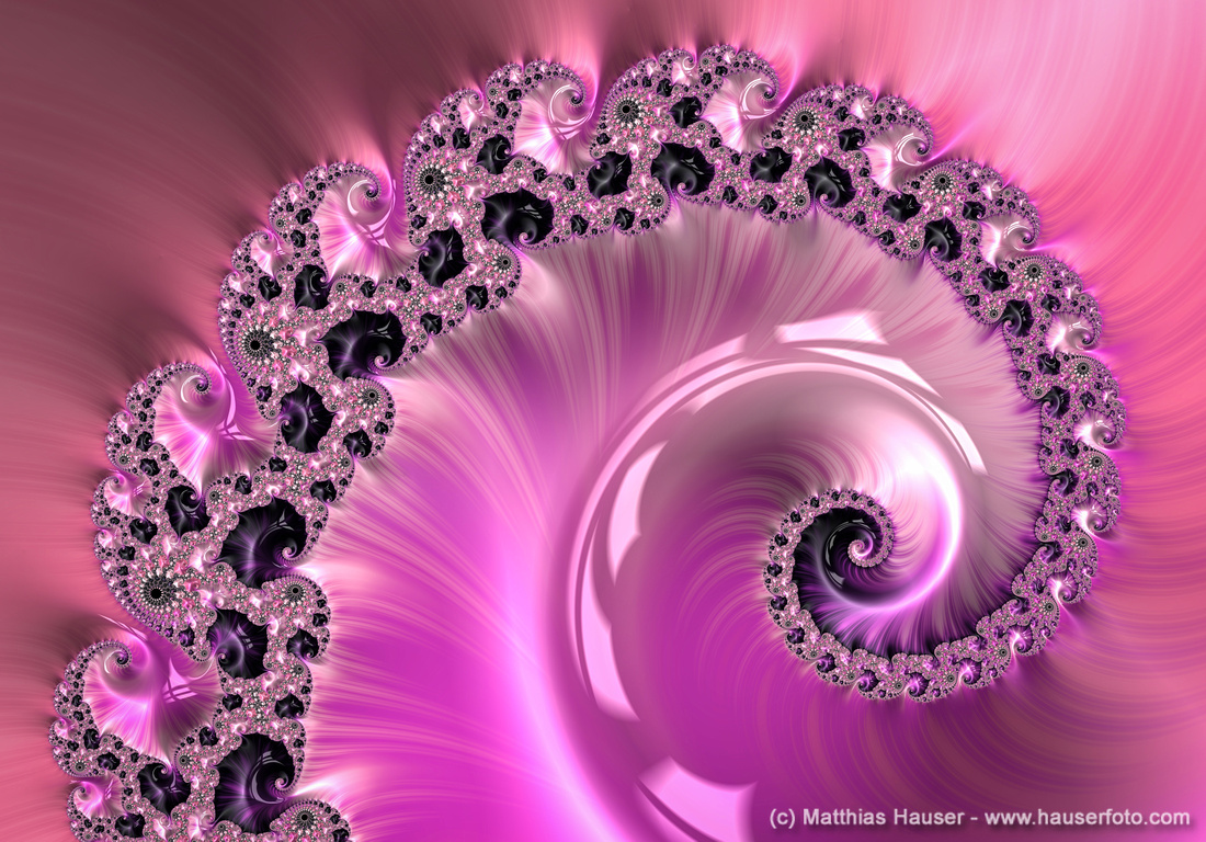 Soft and luxe fractal spiral pink radiant orchid