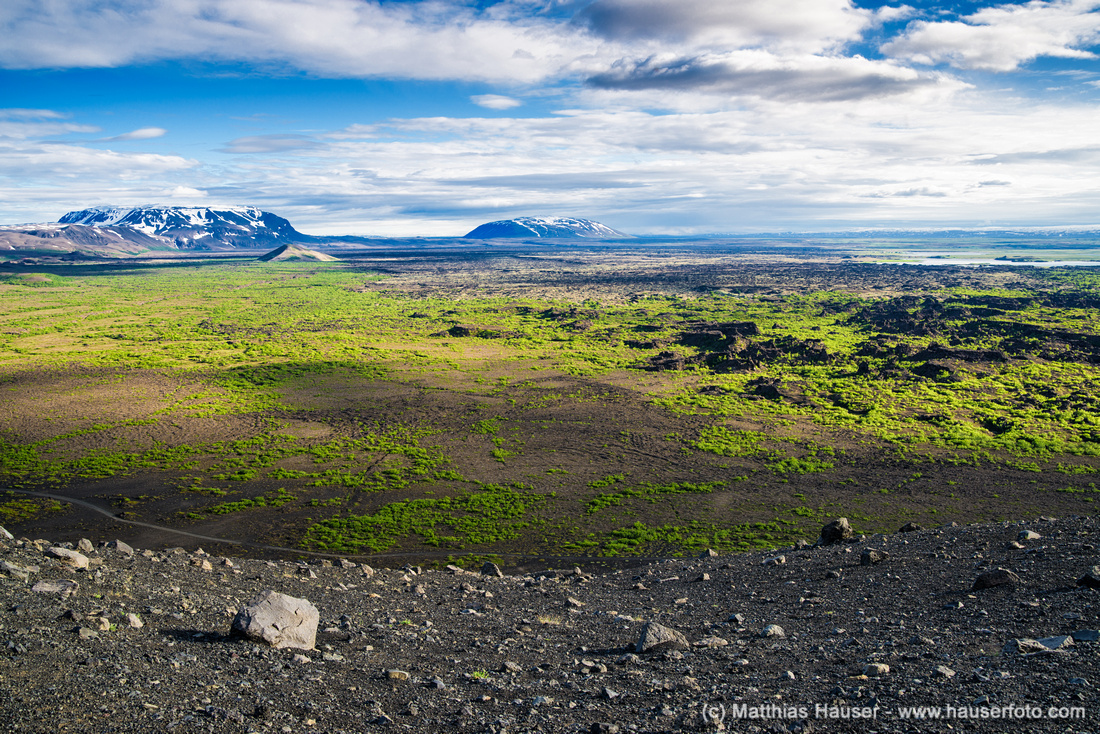 Beautiful landscape in North Iceland Hverfjall Hverfell