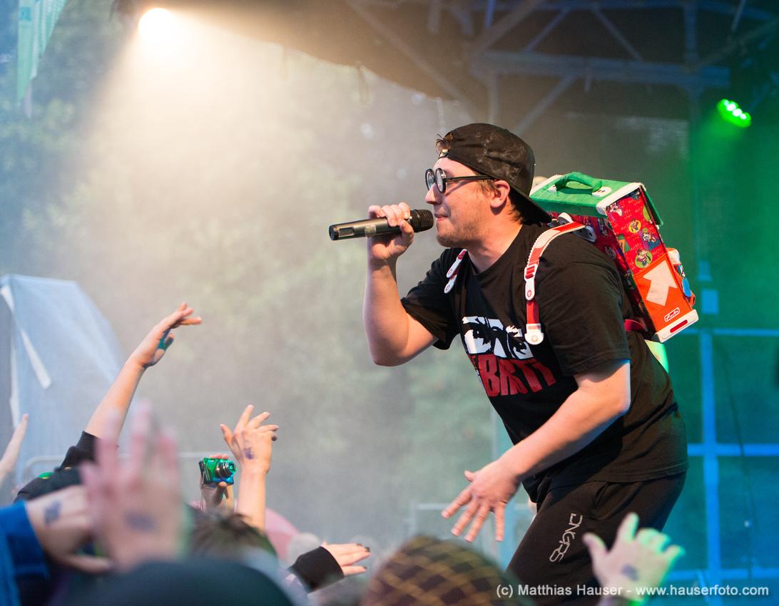 Rapper BattleBoi Basti (BBB) beim Double A Rap Festival in Aalen