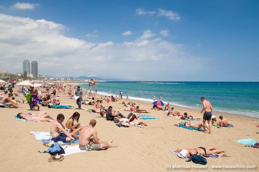 Strand von Barcelona, Spanien, Europa