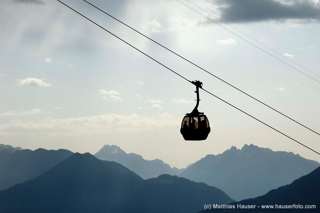 Kabine einer Seilbahn - Cable car Riederalp, Wallis, Schweiz - Riederalp, Valais, Switzerland