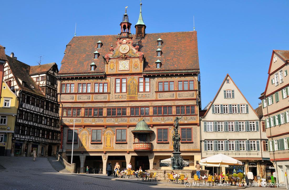 Rathaus Tübingen Baden-Württemberg Deutschland Town Hall Tuebingen Germany