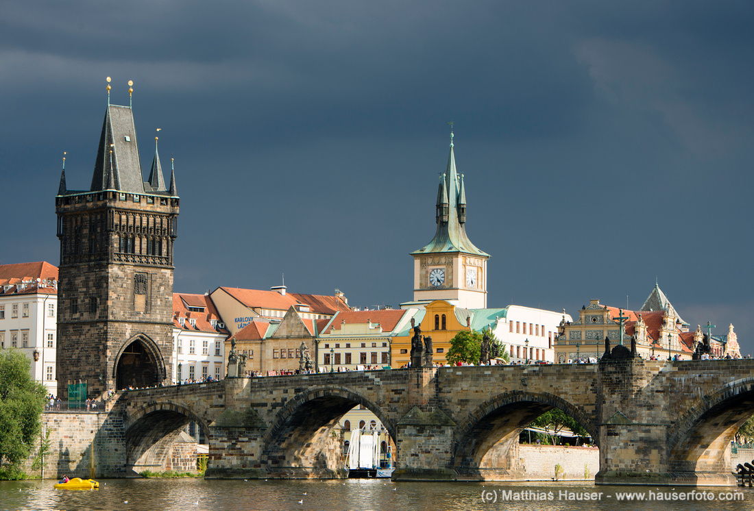 Karlsbrücke in Prag, Tschechische Republik - Charles Bridge Prague Czech Republic