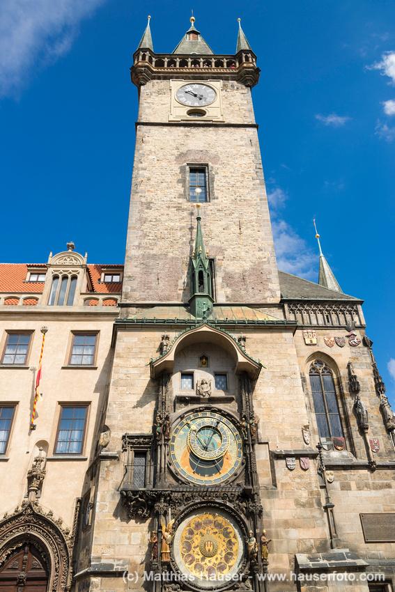 Prager Rathausuhr, auch Aposteluhr oder Altstädter Astronomische Uhr, Altstädter Ring, Prag