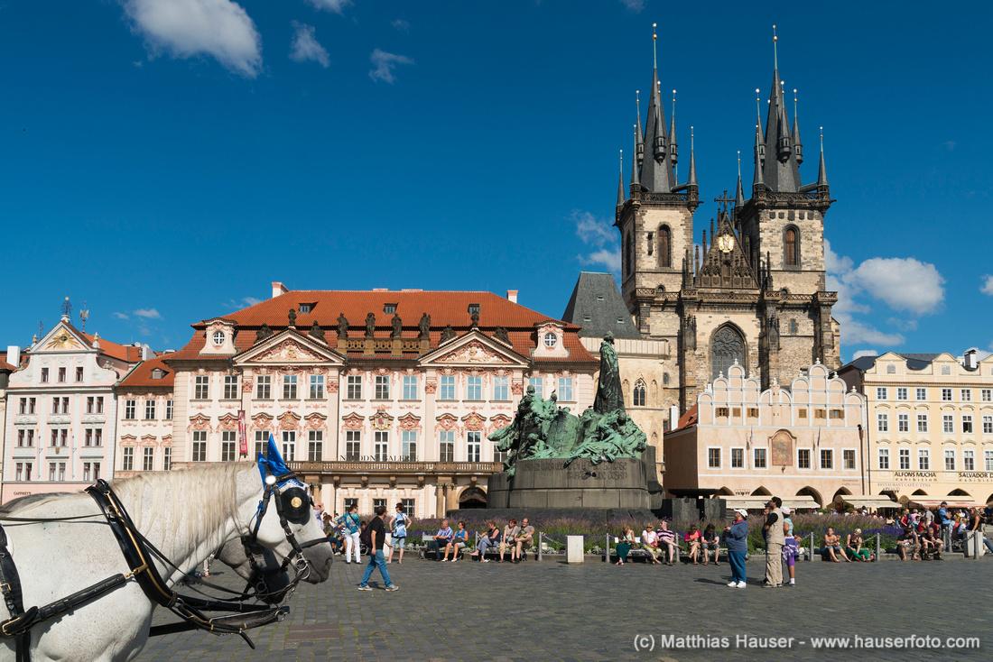 Altstädter Ring, Nationalgalerie, Teynkirche, auch Teyn-Kirche, Prag, Tschechische Republik, Europa