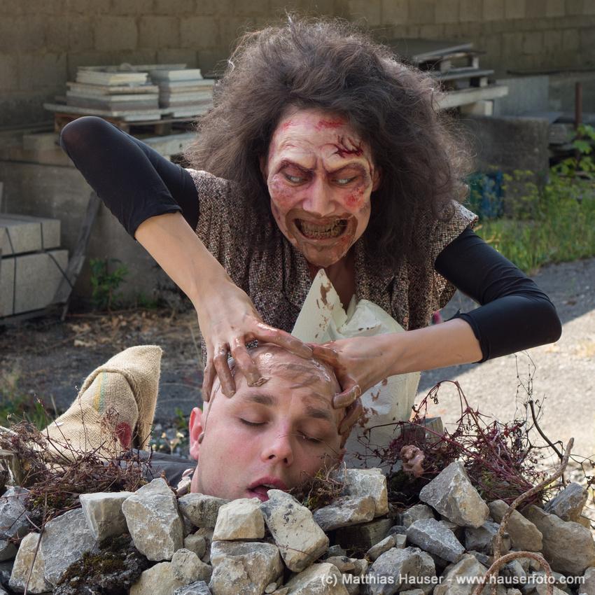 Zombie comedy Brain Freeze set photo by Matthias Hauser http://hauserfoto.com