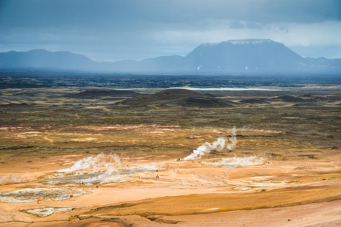 Geothermal area Hverir Iceland