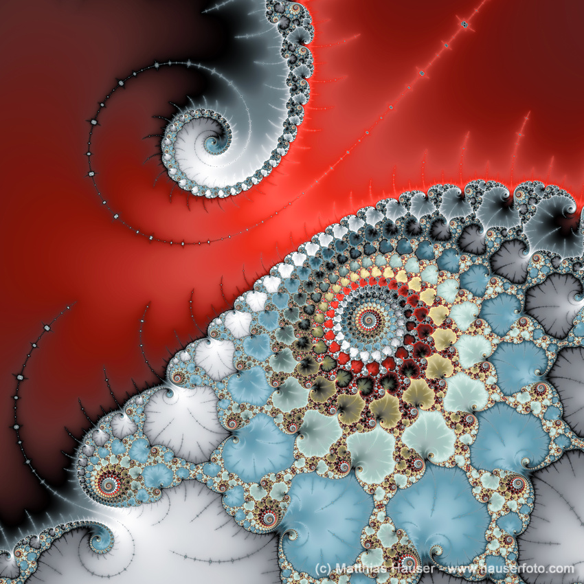 Contact - spiral fractal art by Matthias Hauser