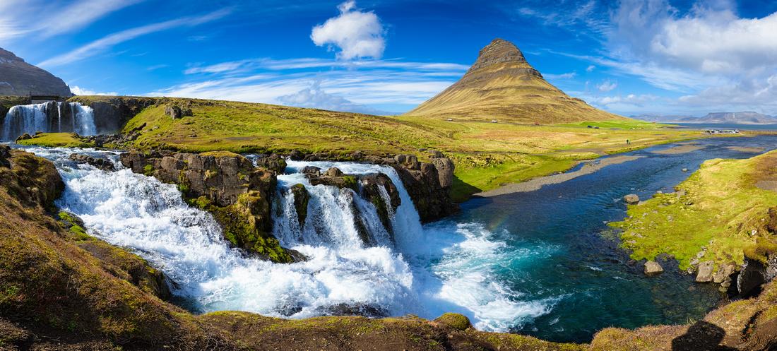 Kirkjufell Snaefellsnes Iceland Panorama