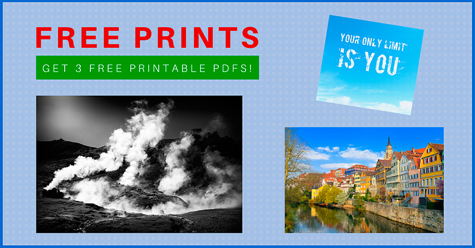 Get three free prints - printable PDFs