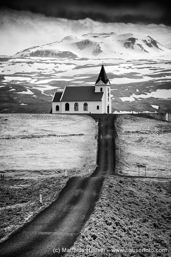 Ingjaldsholl church Iceland Fine Art Print