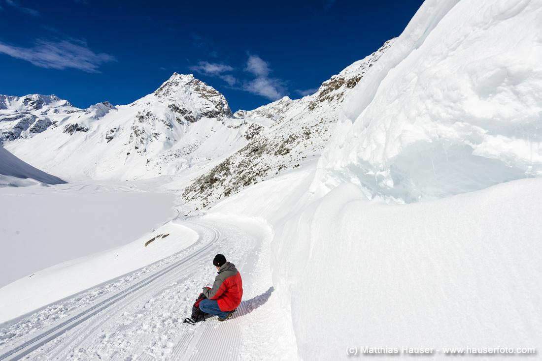 Viel Schnee im Pitztal - Winterwandern in den Bergen