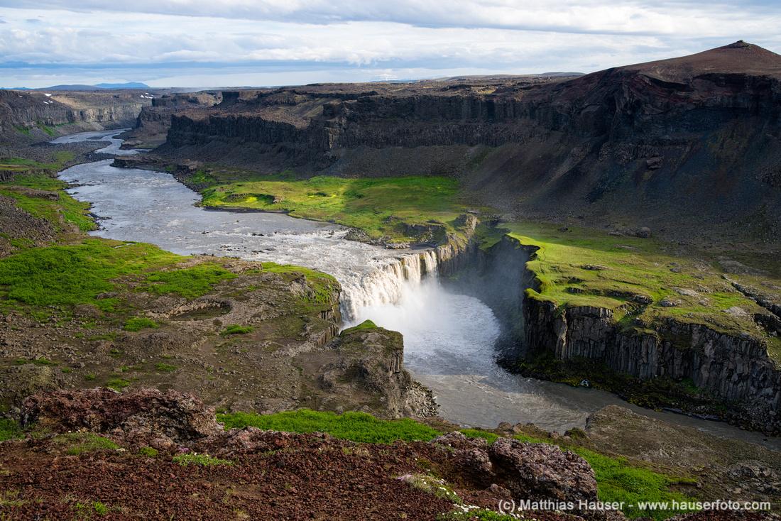 Waterfall Wasserfall Hafragilsfoss Island Iceland