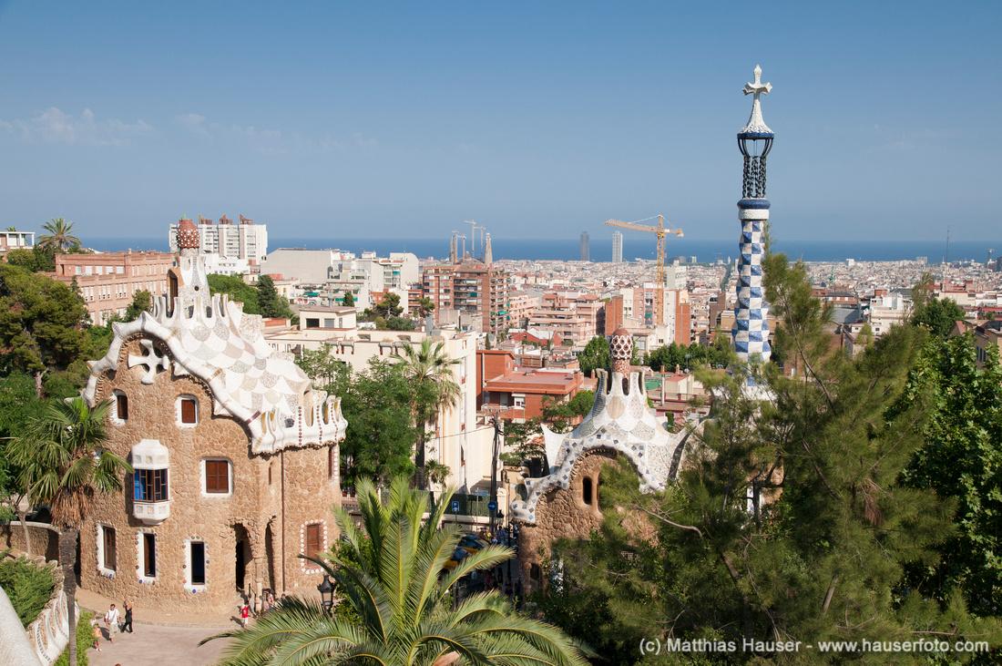 Park Güell in Barcelona, Spanien - Meisterwerk von Antoni Gaudi