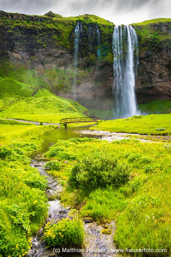 Wasserfall Seljalandsfoss Island Europa - Waterfall Seljalandsfoss Iceland Europe