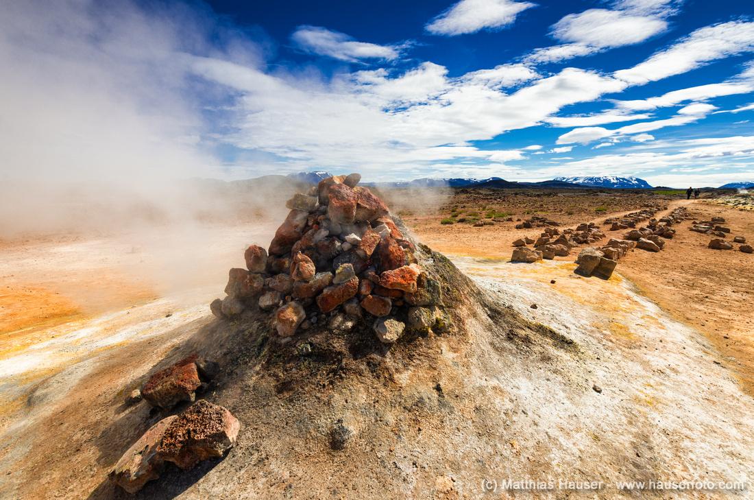 Geothermal area Hverir Namaskard Iceland with fumerole
