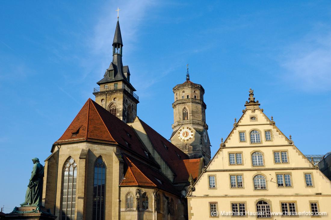 Stiftskirche und Fruchtkasten, Schillerplatz, Stuttgart