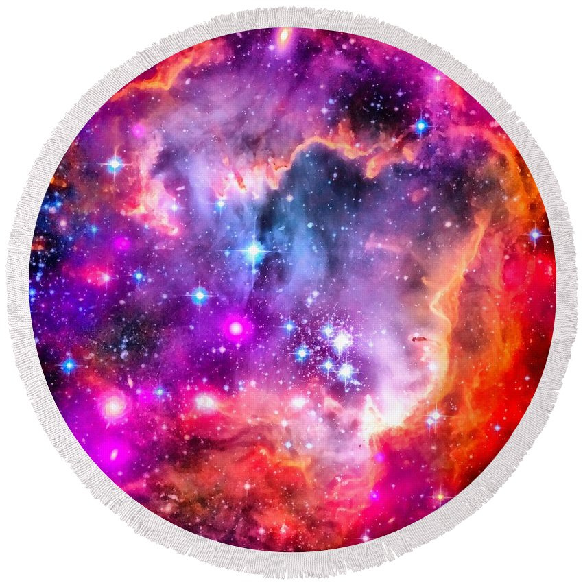 Spaceimage Small Magellanic Cloud as roundie towel