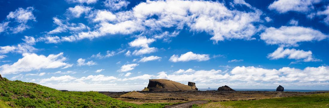Iceland Reykjanes coast landscape panorama format