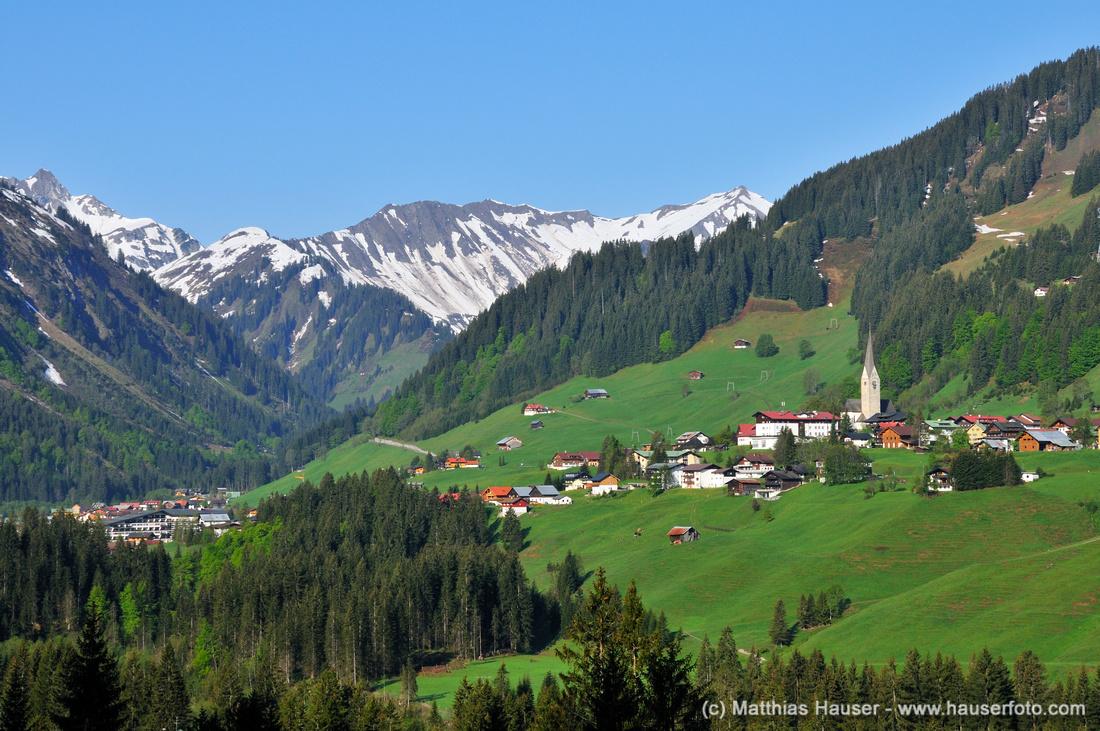 Mittelberg, Kleinwalsertal, Vorarlberg, Österreich, Europa - Mittelberg, Kleinwalsertal valley, Vorarlberg, Austria, Europe