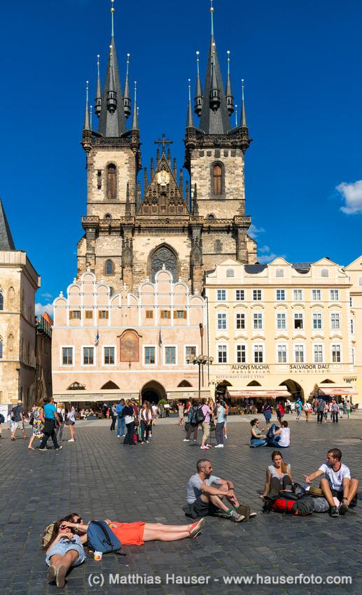 Altstädter Ring, Teynkirche, auch Teyn-Kirche, Prag, Tschechische Republik, Europa